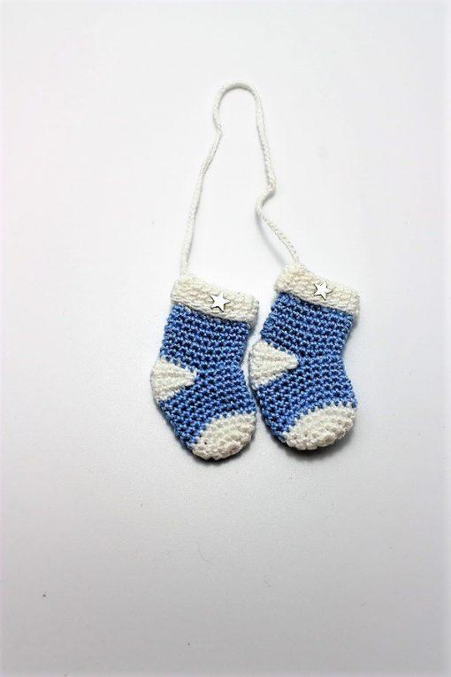 Botosei crosetati light blue